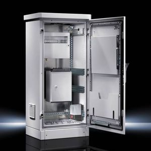 outdoor enclosure / rectangular / single-door / double-door