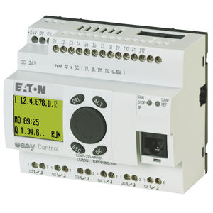 DIN rail PLC / compact / with integrated I/O / Ethernet