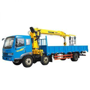 truck-mounted crane / telescopic / construction / building