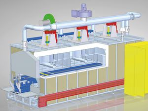 polymerization furnace / curing / chamber / conveyor