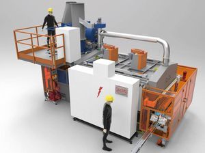 heat treatment furnace / chamber / conveyor / electric