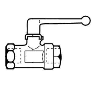 ball valve / lever / selector / for water