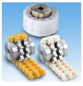 roller chain coupling / light-duty / flange