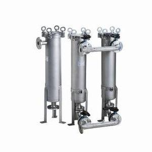 pocket filter housing / for liquids / stainless steel