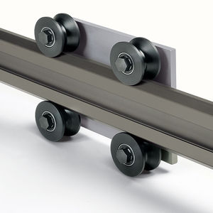 skate wheel linear guide / aluminum / profiled rail / high-performance