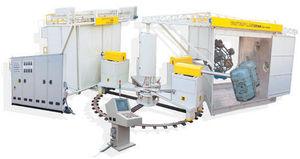 5 work areas roto-molding machine