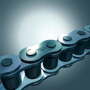 azimuth chain / steel / roller / nickel-plated