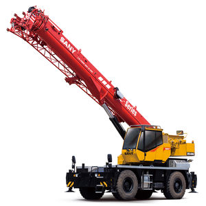 mobile crane / folding / for construction / rough terrain