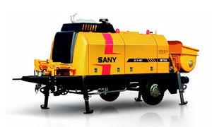 trailer-mounted concrete pump