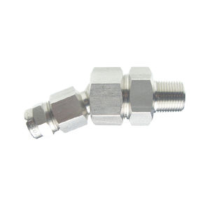 hydraulic fitting / screw-in / straight / stainless steel