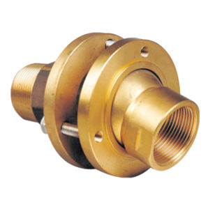 hydraulic fitting / flange / straight / brass