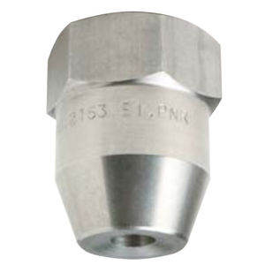 spray nozzle / for liquids / hollow-cone / stainless steel