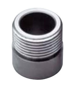 stainless steel nipple / threaded / straight / welded