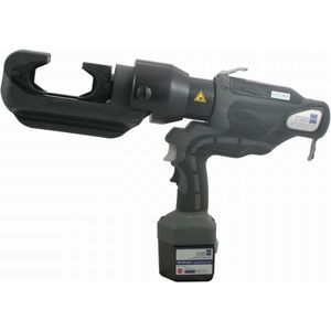 hydraulic crimping tool / for cable lugs / for connectors / battery-operated