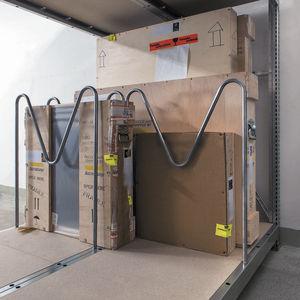 storage warehouse shelving / for heavy loads / adjustable / single-sided