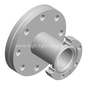 hydraulic adapter / reducing / flange / stainless steel