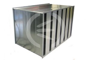 ventilation silencer / air conditioning / metal