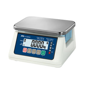 benchtop scale / with LCD display / waterproof / hygienic