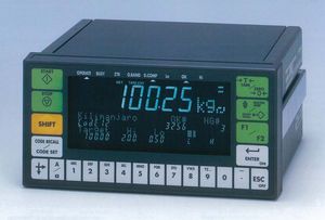 LED display weight indicator / panel-mount / rugged