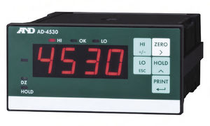 current indicator / digital / DIN rail / for strain gauges