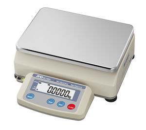 benchtop scale / precision / with LCD display / stainless steel pan