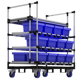storage cart / metal / shelf / container