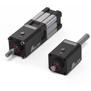 hydraulic rod lock / pneumatic / pneumatic cylinder-mounted