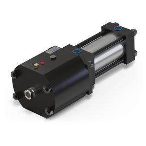 hydraulic rod lock / pneumatic cylinder-mounted