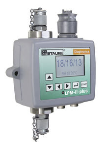particle counter / digital / electronic / for hydraulic fluids