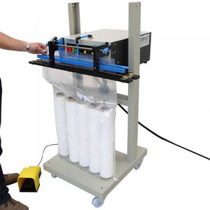 pedal-operated impulse sealer / vertical / sachet