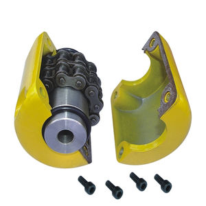 flexible coupling / chain / for food / flange