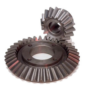 bevel gear / straight-toothed / flange / steel