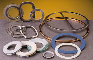 O-ring gasket / round / graphite / rubber