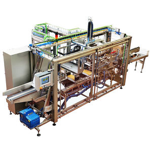 wrap-around case tray packer / automatic / for the food industry / continuous-motion
