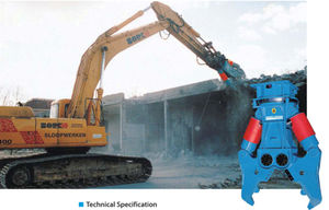 primary demolition hydraulic crusher