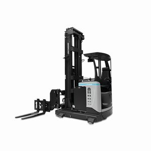 electric reach truck / side-facing seated / for warehouses / narrow-aisle