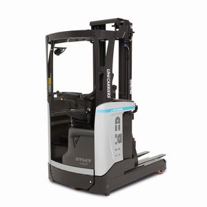 electric reach truck / side-facing seated / for warehouses / pallet