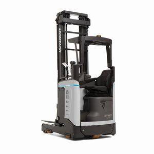 electric reach truck / side-facing seated / pallet / handling
