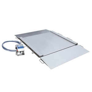 platform scale / with separate indicator / with LCD display / stainless steel