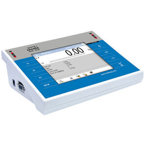 LCD display weighing terminal / with touchscreen / benchtop / programmable