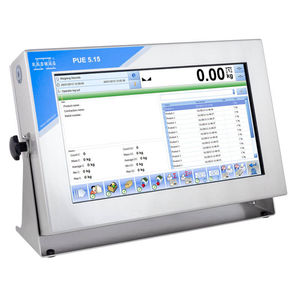 LCD display weighing terminal / with touchscreen / benchtop / wall-mount