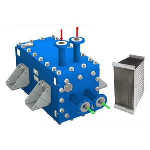 welded plate heat exchanger / air/air / high-pressure / condensation