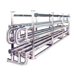 tube-tube heat exchanger / liquid/liquid / stainless steel / for the food industry
