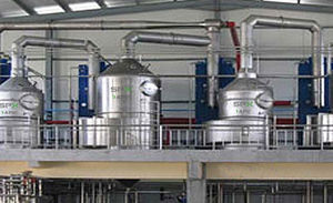 plate evaporator / falling film / process / for liquids