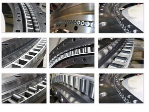 external-toothed slewing ring / roller / three-row / for heavy loads