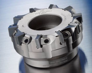 shell-end milling cutter / with negative insert / face / roughing