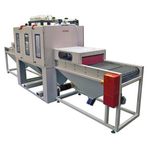 belt shot blasting machine / for tubes / for profiles / for cylinders