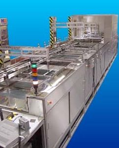 ultrasonic cleaning machine / water / immersion / automatic