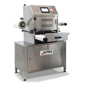 semi-automatic tray sealer / linear array / vacuum / with modified atmosphere packaging