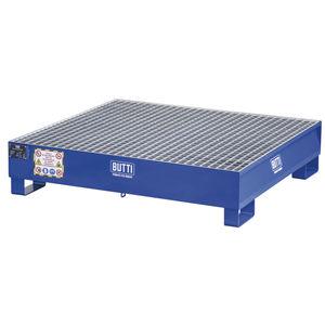 4-drum containment bund / steel / with galvanized grid / pallet